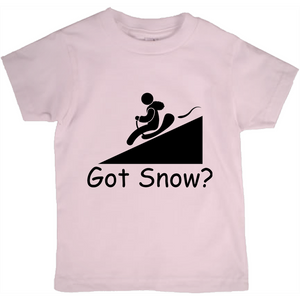 Got Snow? Let it Slide! Novelty Short Sleeve Youth T-Shirt - CampWildRide.com