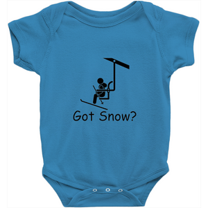 Got Snow? View from the Chair Lift! Novelty Infant One-Piece Baby Bodysuit - CampWildRide.com