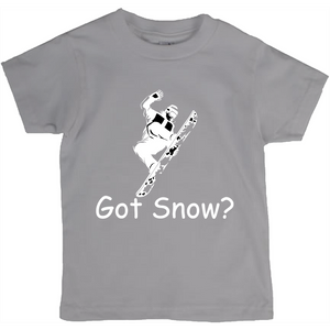 Got Snow? Cool Snowboarder! Novelty Short Sleeve Youth T-Shirt - CampWildRide.com
