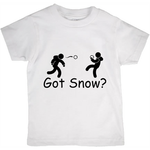 Got Snow? Snowball Fight! Novelty Short Sleeve Youth T-Shirt