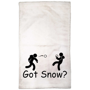 Got Snow? Snowball Fight! Novelty Funny Hand Towel - CampWildRide.com