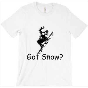 Got Snow? Cool Snowboarder! Novelty Short Sleeve T-Shirt - CampWildRide.com