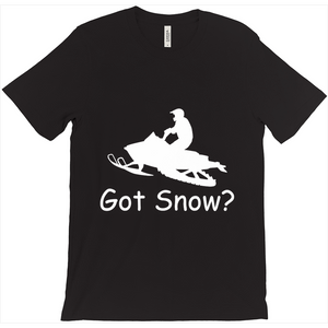 Got Snow? Escape on a Snowmobile! Novelty Short Sleeve T-Shirt