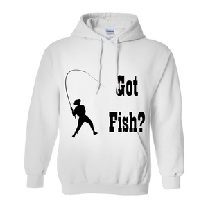 Got Fish? Work that Rod! Novelty Hoodies (No-Zip/Pullover)