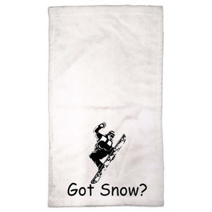 Got Snow? Cool Snowboarder! Novelty Funny Hand Towel - CampWildRide.com