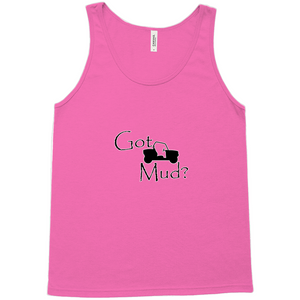 Got Mud? Fun on a Side-by-Side! Novelty Tank Top T-Shirt - CampWildRide.com