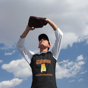 Alabama Gets Its S'more On! Novelty Baseball Tee (3/4 sleeves) - CampWildRide.com
