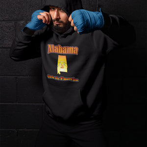 Alabama Gets Its S'more On! Novelty Hoodies (No-Zip/Pullover) - CampWildRide.com