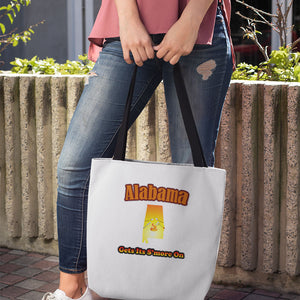 Alabama Gets Its S'more On! Novelty Funny Tote Bag Reusable