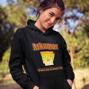 Arkansas Gets Its S'more On! Novelty Hoodies (No-Zip/Pullover) - CampWildRide.com