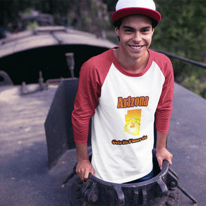 Arizona Gets Its S'more On! Novelty Baseball Tee (3/4 sleeves)