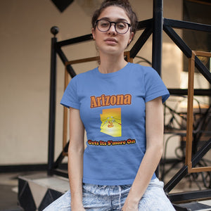 Arizona Gets Its S'more On! Novelty Short Sleeve T-Shirt - CampWildRide.com