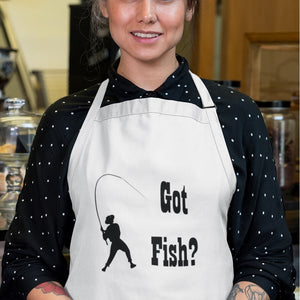 Got Fish? Work that Rod! Novelty Funny Apron - CampWildRide.com