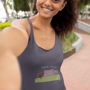 Bear In! Bare Out! Novelty Women's Tank Top T-Shirt - CampWildRide.com