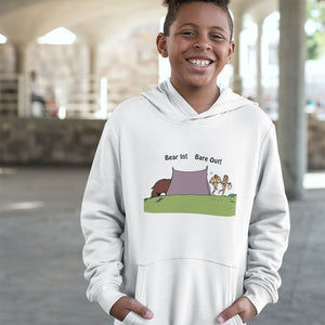 Bear In! Bare Out! Novelty Youth Hoodies (No-Zip/Pullover)