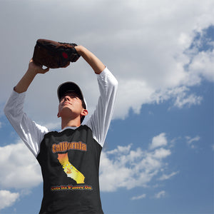 California Gets Its S'more On! Novelty Baseball Tee (3/4 sleeves)