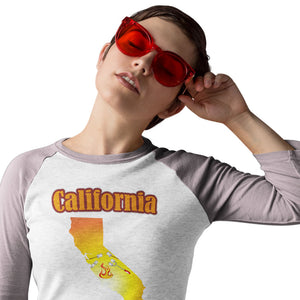 California Gets Its S'more On! Novelty Baseball Tee (3/4 sleeves) - CampWildRide.com