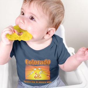Colorado Gets Its S'more On! Novelty Infant One-Piece Baby Bodysuit - CampWildRide.com