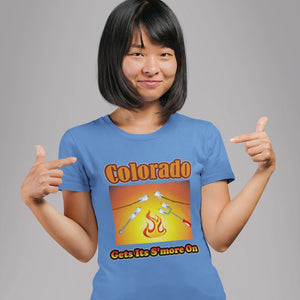 Colorado Gets Its S'more On! Novelty Short Sleeve T-Shirt - CampWildRide.com