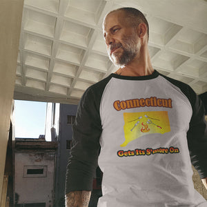 Connecticut Gets Its S'more On! Novelty Baseball Tee (3/4 sleeves) - CampWildRide.com
