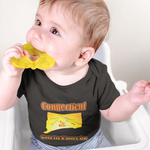 Connecticut Gets Its S'more On! Novelty Infant One-Piece Baby Bodysuit - CampWildRide.com