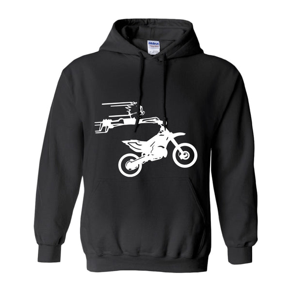Crazy Boy on Motorcycle! Novelty Hoodies (No-Zip/Pullover)