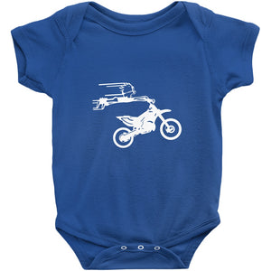 Crazy Boy on Motorcycle! Novelty Infant One-Piece Baby Bodysuit - CampWildRide.com