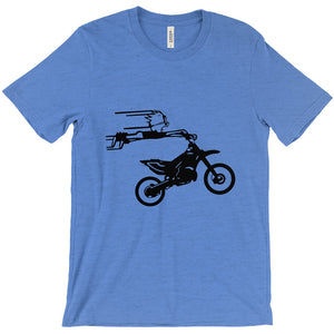 Crazy Boy on Motorcycle! Novelty Short Sleeve T-Shirt - CampWildRide.com