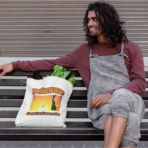 Delaware Gets Its S'more On! Novelty Funny Tote Bag Reusable