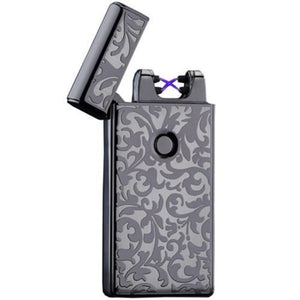 Dual Arc Plasma Flame-less Electric Lighter, USB Rechargeable, With USB Cable - CampWildRide.com