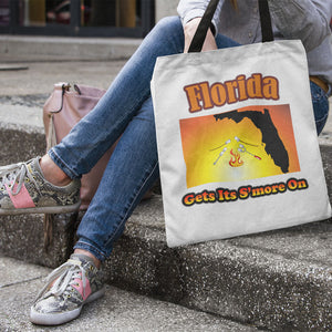 Florida Gets Its S'more On! Novelty Funny Tote Bag Reusable
