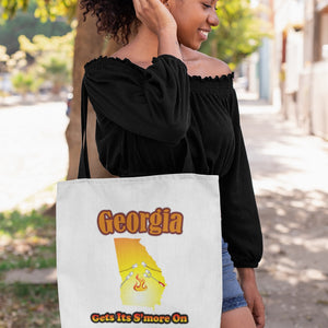 Georgia Gets Its S'more On! Novelty Funny Tote Bag Reusable