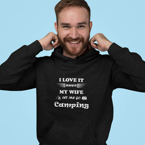 Wife Lets Me Go Camping! Novelty Hoodies (No-Zip/Pullover)
