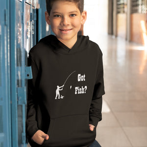 Got Fish? Fun with a Pole! Novelty Youth Hoodies (No-Zip/Pullover)