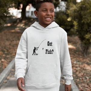 Got Fish? Fun with a Pole! Novelty Youth Hoodies (No-Zip/Pullover) - CampWildRide.com