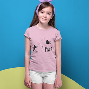 Got Fish? Fun with a Pole! Novelty Short Sleeve Youth T-Shirt - CampWildRide.com