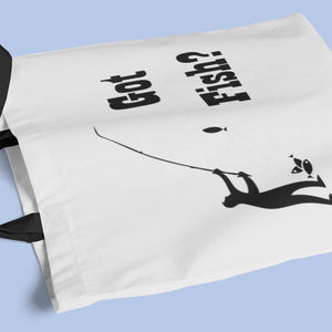 Got Fish? Fun with a Pole! Novelty Funny Tote Bag Reusable - CampWildRide.com