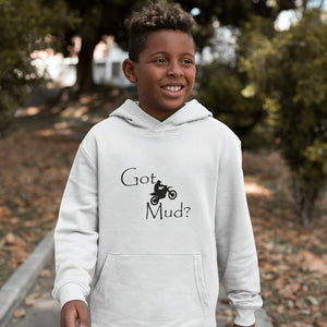 Got Mud? Fun on a Motorcycle! Novelty Youth Hoodies (No-Zip/Pullover) - CampWildRide.com