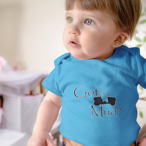 Got Mud? Fun on a Side-by-Side! Novelty Infant One-Piece Baby Bodysuit - CampWildRide.com