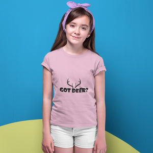 Got Deer? Nice Rack! Novelty Short Sleeve Youth T-Shirt - CampWildRide.com