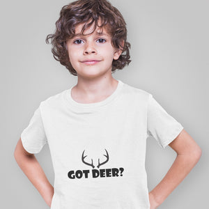Got Deer? Nice Rack! Novelty Short Sleeve Youth T-Shirt