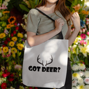 Got Deer? Nice Rack! Novelty Funny Tote Bag Reusable