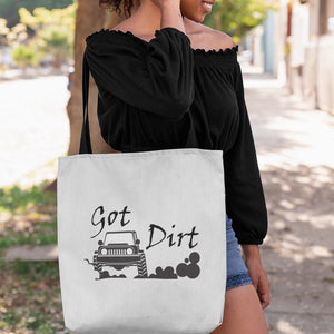 Got Dirt? Fun with your 4x4! Novelty Funny Tote Bag Reusable - CampWildRide.com