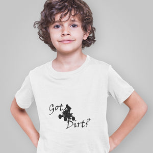 Got Dirt? Fun on an ATV! Novelty Short Sleeve Youth T-Shirt