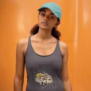 Got Dirt? Fun with your Back Road Vehicle! Novelty Women's Tank Top T-Shirt - CampWildRide.com