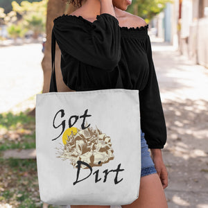 Got Dirt? Fun with your Back Road Vehicle! Novelty Funny Tote Bag Reusable - CampWildRide.com