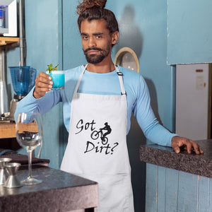 Got Dirt? Fun on a Mountain Bike! Novelty Funny Apron - CampWildRide.com