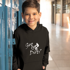 Got Dirt? Fun on a Mountain Bike! Novelty Youth Hoodies (No-Zip/Pullover)
