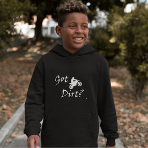 Got Dirt? Fun on a Motorcycle! Novelty Youth Hoodies (No-Zip/Pullover)