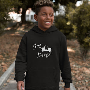 Got Dirt? Fun on a Side-by-Side! Novelty Youth Hoodies (No-Zip/Pullover)